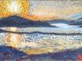 Zonondergang zoutpanne Jan Tiel