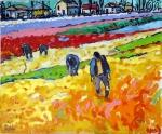 oranje-veld-met-werkers-100x120-olie-op-doek