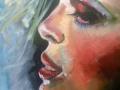 portrait en profile, olie op doek,50x70