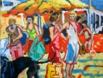 beachparty-noordwijk-olie-op-doek-50x60