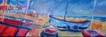 catamarans-op-noordwijk-olie-op-doek-120x30