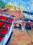 catamarans-op-noordwijk-olie-op-doek-60x70