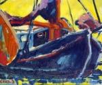 bottertje-in-blauwe-lijst-olie-op-doek-50x60a